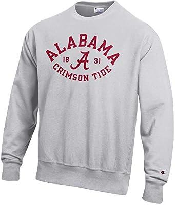 1935f818 Champion Men's NCAA Reverse Weave Crew Sweatshirt-Alabama Crimson Tide-Large