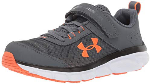 Under Armour Pre School Assert 8 Alternate Closure Sneaker, Pitch Gray (101)/White, 13.5K M US Little Kid