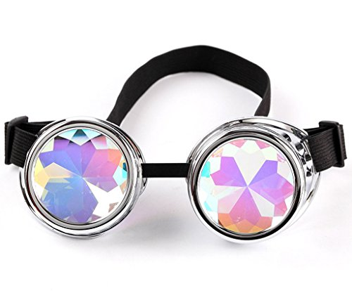 FUT ABS Rainbow Lens Glasses Costume Photo Props Vintage Steampunk Goggles Glasses Gothic Cosplay -
