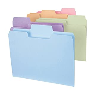 Smead SuperTab File Folder, Oversized 1/3-Cut Tab, Letter Size, Assorted Colors, 24 per Pack (11927) (B001L1RDYI)   Amazon price tracker / tracking, Amazon price history charts, Amazon price watches, Amazon price drop alerts