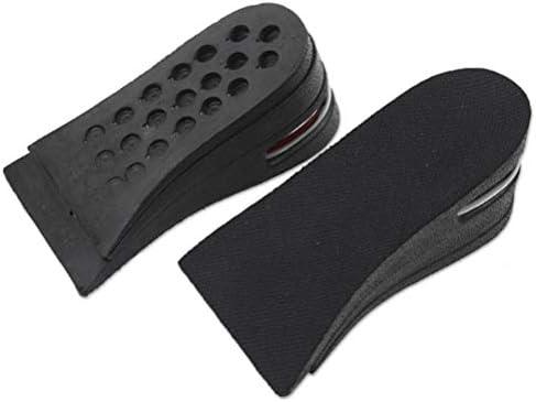 FENICAL Erhöht Einlegesohlen Schuh Pad mit Luftkissen Atmungsaktive Höhe Anstieg Aufzug Schuhe Einlegesohlen Lift Kit 6cm 1 Paar (Schwarz)