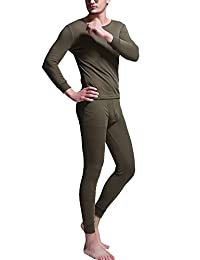 Godsen Men's Long Johns Thermal Underwear Set Crew Neck/V-Neck