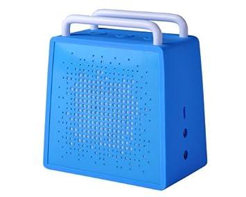 Antec AMP SPZero Portable Wireless Bluetooth Speaker & Speakerphone (Blue) Speakers at amazon