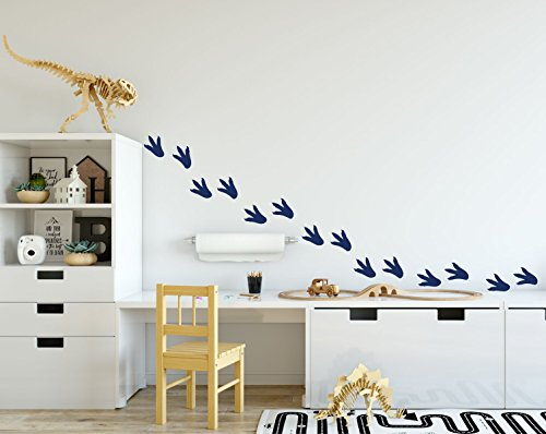 Dinosaur Footprints Wall Decals   Wall Decoration For Childrens Room Playroom  Preschool Or Classroom Decor