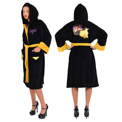 DC Comics Batgirl Bombshell Ladies Fleece Robe One Size