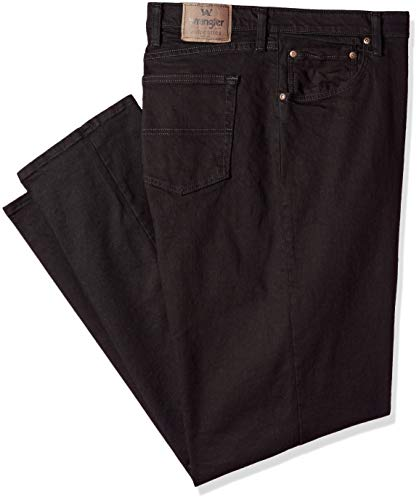 Wrangler Authentics Men's Big and Tall Regular Fit Comfort Flex Waist Jean, Black, 46x32