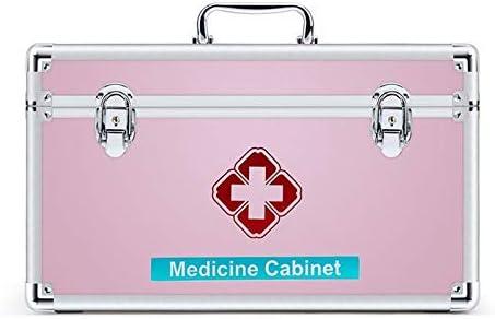 救急箱・救急セット 応急処置ボックスを使用してリムーバブルトレイ&ハンドル、医療オーガナイザー収納ボックスファミリー救急キット収納ケース (Size : L)