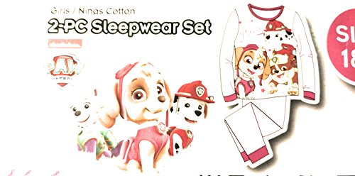 AME PAW Patrol Baby Toddler Girl Cotton Tight Fit Pajama, 2pc Set (18M)