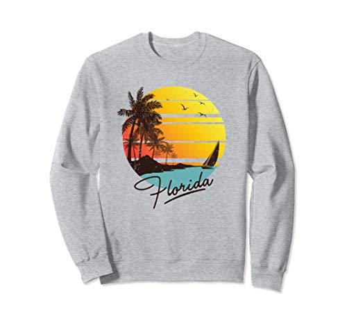 - Florida Retro Summer Tropical Beach Gift Sweatshirt