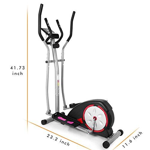 Simpfree Elliptical Machine Trainer Magnetic Smooth Quiet Driven, Top Levels Elliptical Trainer (Black) by Simpfree (Image #6)