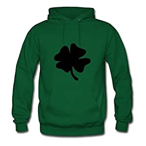 Cool Clover Hoodies Fashionalble Designed Green Cotton X-large Women Customized