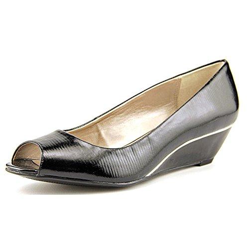 Alfani Women's Cammi Peep Toe Wedge Pumps, Black, Size 7.5