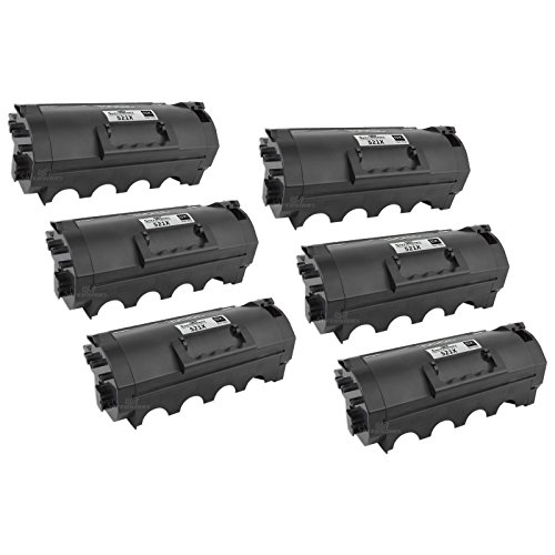 Speedy Inks - 6pk Compatible Lexmark Extra High Yield Black Laser Toner Cartridge 52D1X00 45,000 Page Yield for use in MS811n, MS811dn, MS812dn, MS812dtn, MS812de, MS811dtn Drum 45000 Yield