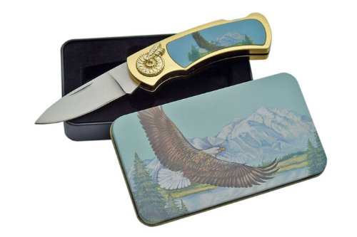 SZCO Supplies Eagle Tin Gift Box Knife