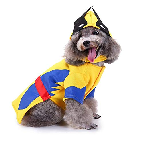KINGSWELL Halloween Wolverine Superhero Pet Costume Dog Cat Costume Funny Pet Cosplay Cold Weather Coats Clothes Autumn Jumpsuit]()