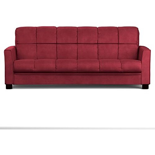 Baja Convert-a-couch and Sofa Bed, Multiple Colors (Crimson Red)