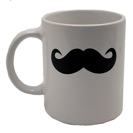 amazon com mustache mug moustache coffee cup kitchen dining
