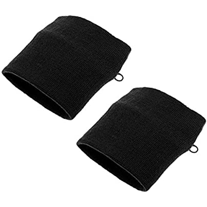 Fenteer Pieces Sports Wristbands Sweatband Wallet Zipper Pocket Black Estimated Price £3.52 -