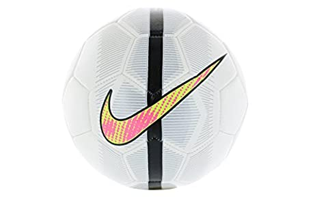 Nike Soccer Official Match Ball, Size 3, White/Grey/Volt/Pink