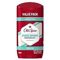 Desodorante para hombre Old Spice High Endurance Pure Sport Scent para hombre, con dos goles, 2.25 oz