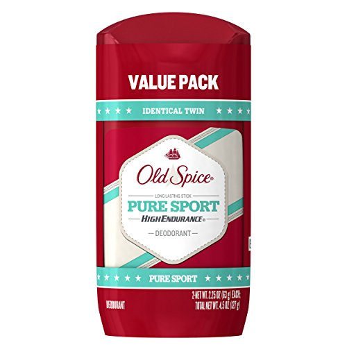 Old Spice High Endurance Pure Sport Scent Men's Deodorant Twin Pack 2.25 Oz