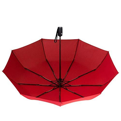 Repel Windproof Travel Umbrella with Teflon Coating (Red) by Repel Umbrella (Image #4)