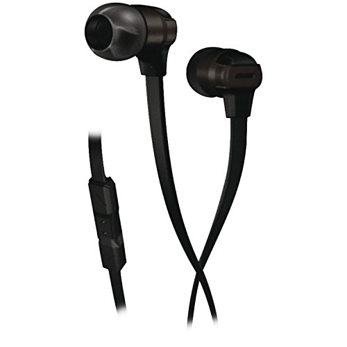 Munitio SV Mobile Performance Earphones with 3 Button Mic Control, Black