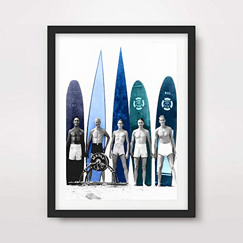VINTAGE SURFING SURF SURFERS SURFBOARDS ART PRINT Poster Home Decor Wall Picture Photo A4 A3 A2 (10 Size Options)