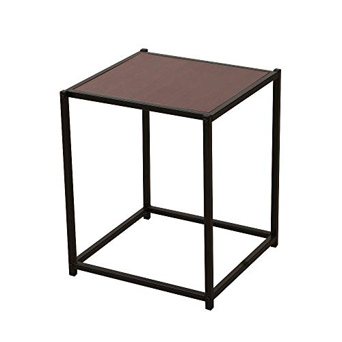 Bonnlo Modern End Table Living Room Sofa Coffee Table with Metal Frame Home Furniture Small Accent Table