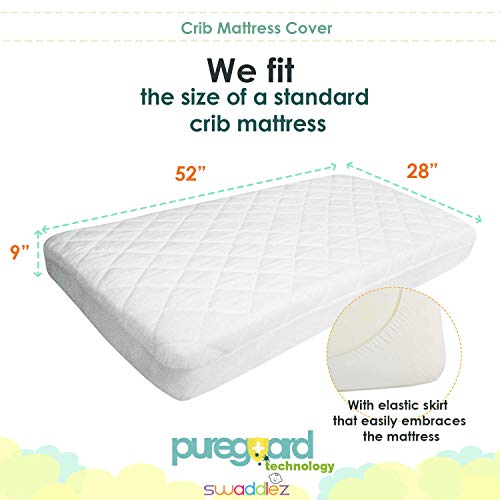 Crib Mattress Protector | Waterproof Crib Mattress Cover | Crib Mattress Pad | Baby Mattress Protector