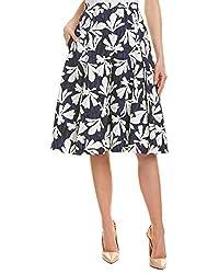 Oscar De La Renta Womens A Line Skirt 8 Blue