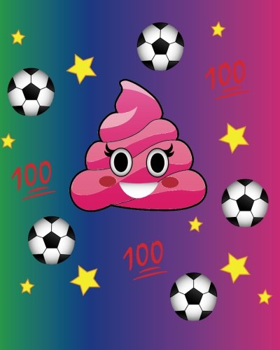 Soccer Journal 100: Win! Poop Emoji Bullet, Blank Dot Grid Journal, 160 Page Softcover Composition Notebook, 8