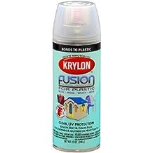 Krylon K02444007 'Fusion for Plastic' Clear Plastic Paint - 12 oz. Aerosol