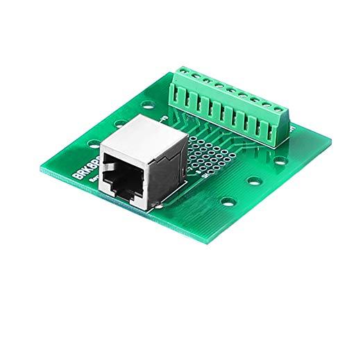 SIENOC RJ45 / 8P8C to Screw Terminal Breakout Board with DIN rail clips (RJ45 Terminal)