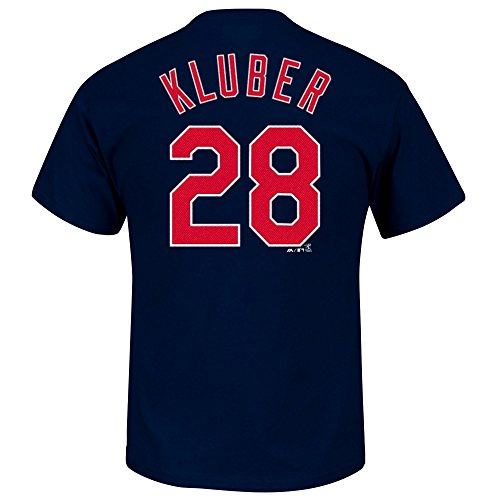 OuterStuff Corey Kluber Cleveland Indians #28 Youth Player Name & Number T-Shirt (Youth Large 14/16)