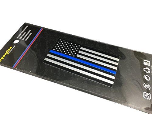 [해외]얇은 파란 선 미국 국기 스티커 데칼 | /Thin Blue Line American Flag Sticker  Decal | Heavy Duty Aluminum Alloy for Car, Truck, SUV | In