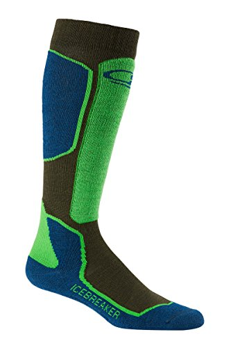 Icebreaker Men's Ski+ Light OTC Socks, Ivy Heather/Largo/Turf, Large