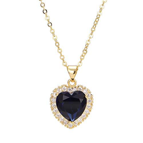 AILUOR Titanic Heart of The Ocean Neckalce, Sterling Silver Necklace Pendants Jewelry (Style ()