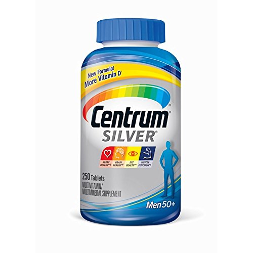 2-Pack Centrum Silver Ultra Men's Multivitamin and Multimineral 250 Tablets X - Tablets 250 Plus