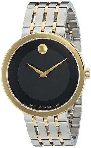Movado Men's Swiss Quartz and Stainless Steel Casual Watch, Color:Two Tone (Model: 0607058)