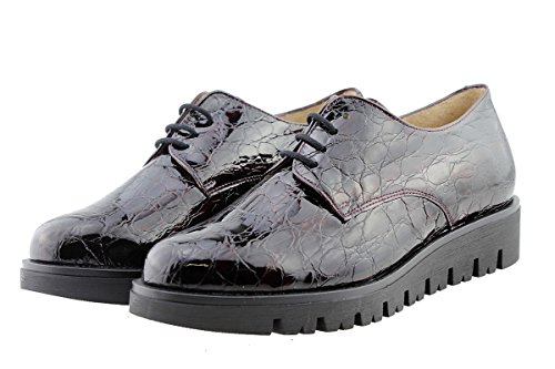Burdeos Lacets 175701 Chaussure Amples Femme Cuir bordeaux Piesanto À En Confort Confortables pvAqTwg