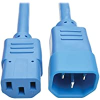 Tripp Lite 6 ft. Heavy Duty Power Extension Cord, C14 to C13, 15A, 14 AWG, Blue (P005-006-ABL)