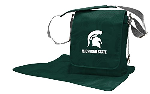 Wild Sports NCAA College Michigan State Spartans Messenger Diaper Bag, 13.25 x 12.25 x 5.75-Inch, Green by Wild Sports