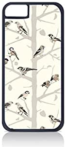 LINMM58281Birds and Branches- Case for the Apple iphone 5/5s-Hard Black Plastic Outer Shell with Inner Soft Black Rubber LiningMEIMEI