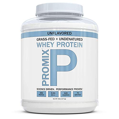 (Grass Fed Whey Protein | 5lb | Unflavored Whey from California Cows | 100% Natural Whey | 2 Ingredients w/ No Sweeteners or Added Sugars | Non-GMO + Gluten Free + Preservative Free | Pure Promix_bulk)