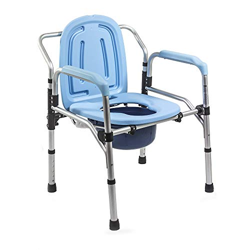 KosmoCare Folding Commode Chair (Aluminum without castors)