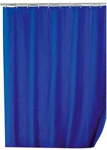 Wenko 19107100 Shower Curtain Single Colour Night Blue