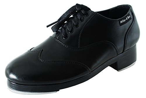 Miller & Ben Tap Shoes Jazz-Tap Master; All Black - Standard Sizes Only (45 Regular) by Miller & Ben