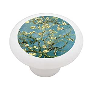 Almond Blossoms By Van Gogh Decorative High Gloss Ceramic