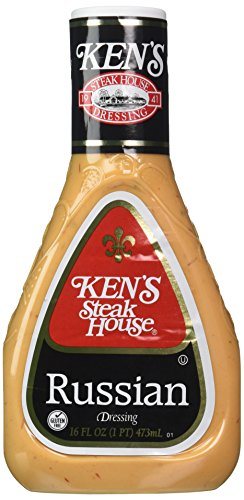 Russian Dressing - Ken's Steakhouse Russian Salad Dressing (Pack of 2) 16 oz Bottles